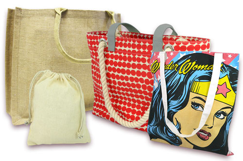 Branded products - Bespoke Fabric Bag Range