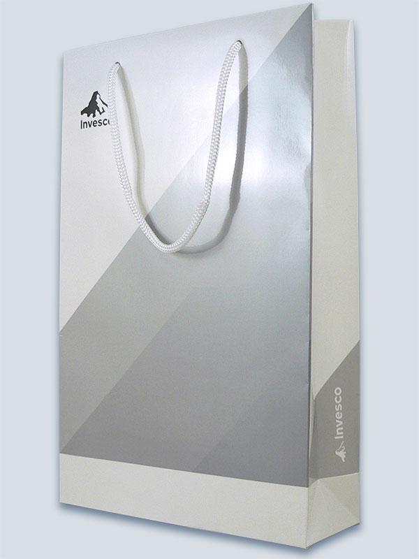Gloss laminate, spot colour print