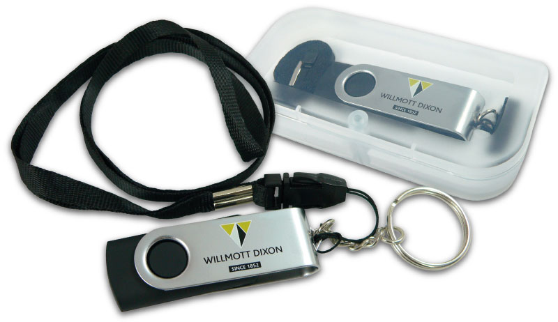 Butterfly USB with magnetic box, lanyard and keyring