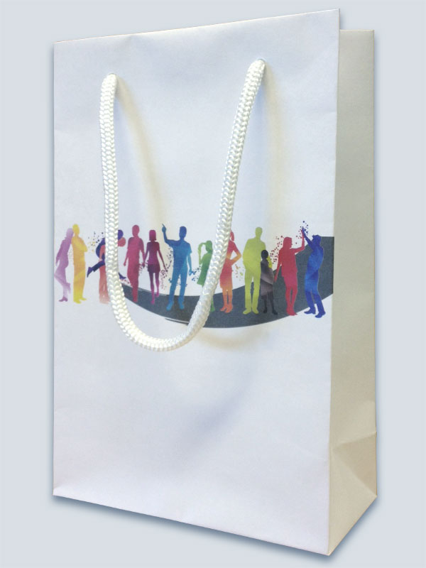 Supreme kraft bag with PP rope handles and full colour CMYK print