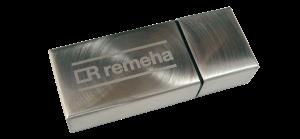 Laser engraved Flatfish USB