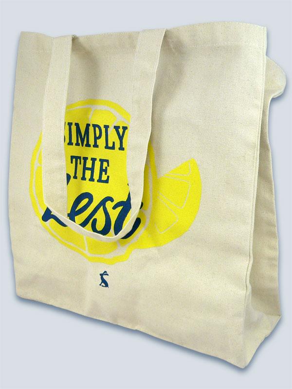 Natural Nutmeg bag with 2 spot colour print
