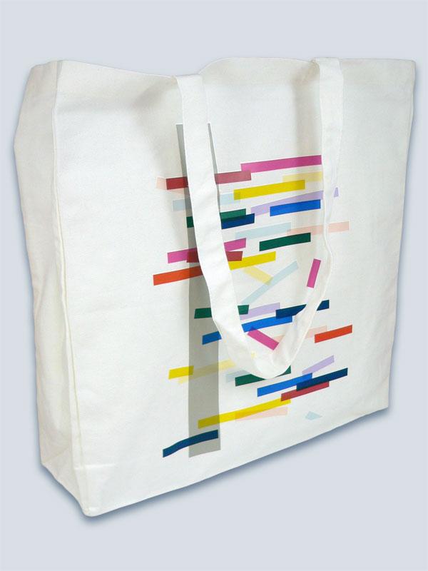 White Nutmeg bag with full colour transfer print