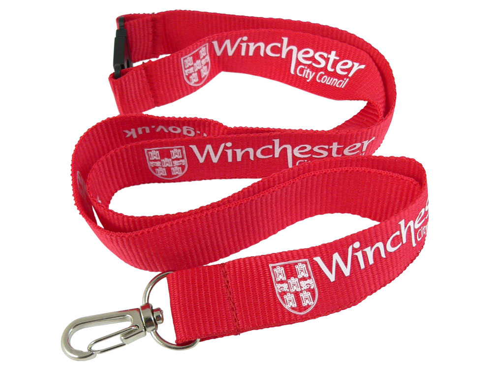 Flat Polyester Lanyard with 1 colour print