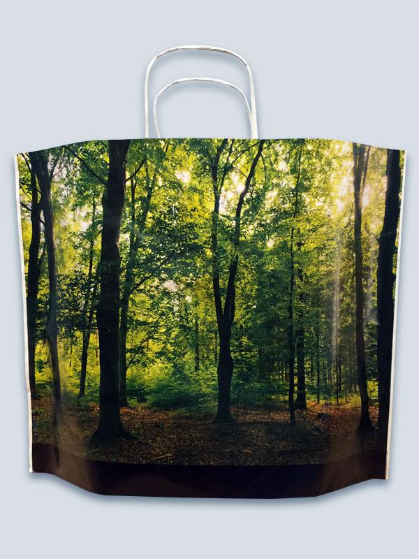 Pine Kraft Paper Bag - full colour print